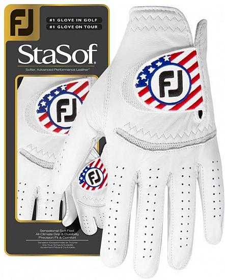 FootJoy StaSof Golf Gloves - Limited Edition USA